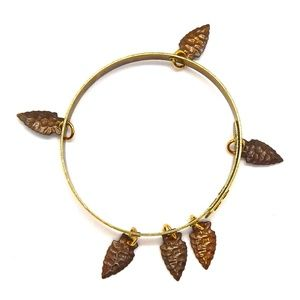 THUNDERBIRD RAWHIDE ARROWHEAD  BANGLE - NEW